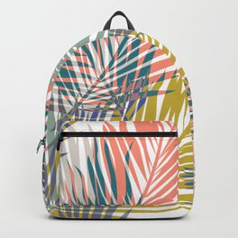 Pop Tropical Botanical Print Backpack