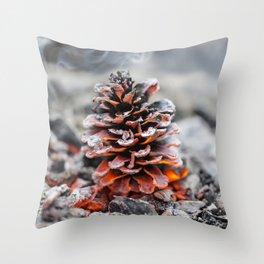 Winter Pinecone Throw Pillow
