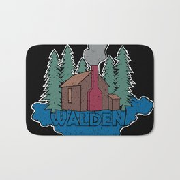 Walden - Henry David Thoreau (Coloured textured version) #society6 #decor #buyart Bath Mat