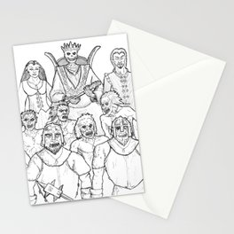 The Lich and his Court Stationery Cards