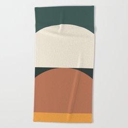 Abstract Geometric 01E Beach Towel