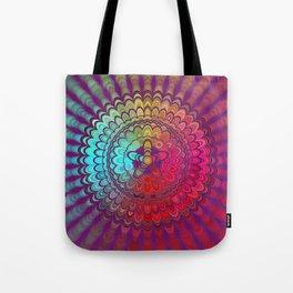 Mandala Flower Wheel Tote Bag