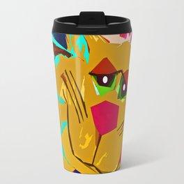Funky Cat Wild thing Travel Mug