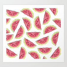 Watermelons Art Print