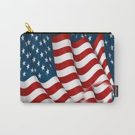 "ORIGINAL  AMERICANA FLAG ART ""STARS N' BARS"" PATTERNS Carry-All Pouch"