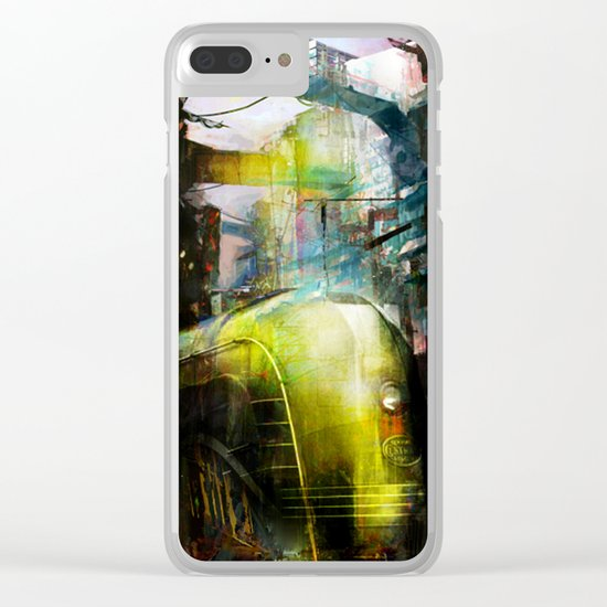 Last train to Mars Clear iPhone Case