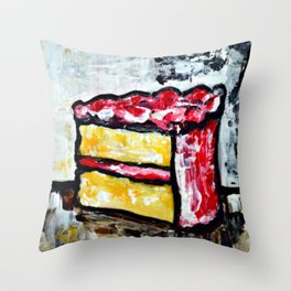 Sweet Treats Still Life: Cake Throw Pillow