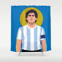 Diego Maradona is a God Shower Curtain