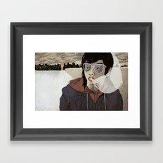Walking the Winter Streets Framed Art Print
