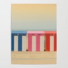 Beach cabins Malo Poster