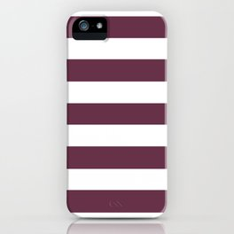 Wine dregs - solid color - white stripes pattern iPhone Case