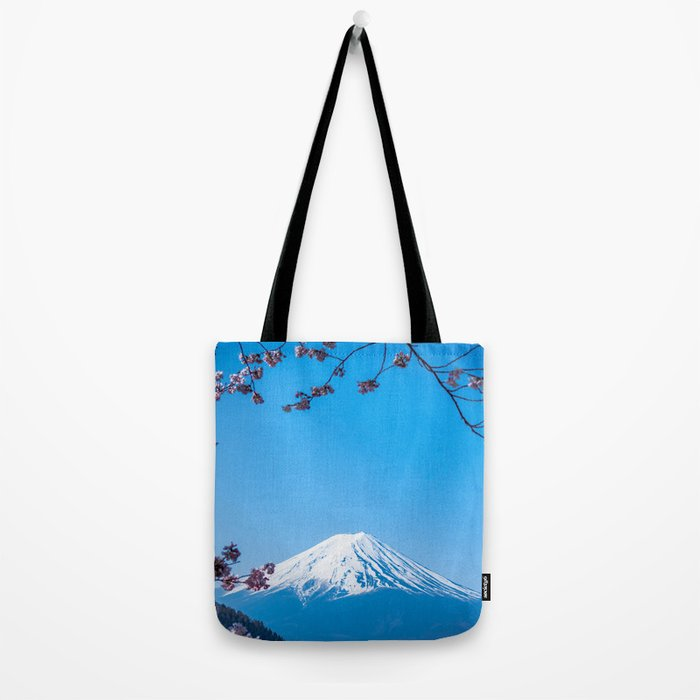 Mount Fuji in spring Tote Bag