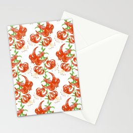 Tiger Lilies (White Background) Stationery Cards