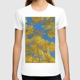 Aspen Trees Against Sky T-shirt