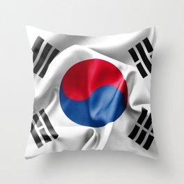 South Korea Flag Throw Pillow