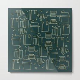 home office Metal Print