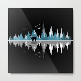 The Sounds Of Nature - Music Sound Wave Metal Print