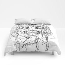 Sassy The Yorkie Comforters