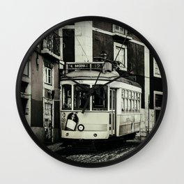 Vintage Lisbon Portugal Tram #28 Car  Wall Clock