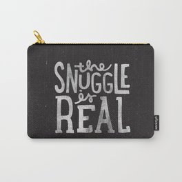 Snuggle is real - black Carry-All Pouch