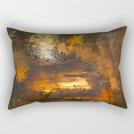 Exploding vibrant sunset Rectangular Pillow