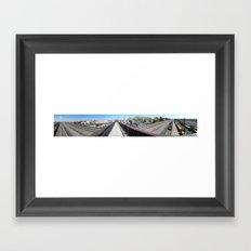 Laramie, WY (Panoramic) Framed Art Print