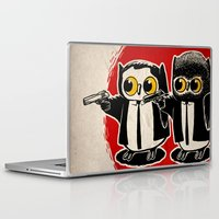 pulp fiction Laptop & iPad Skins featuring Owls Pulp Fiction by Lime