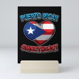 Puerto Rican Sweetheart - Boricua Heart Mini Art Print