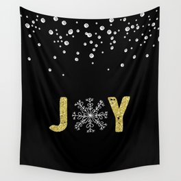 JOY w/White Snowflakes Wall Tapestry