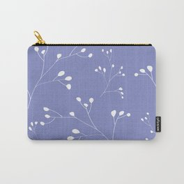 Violet floral pattern Carry-All Pouch