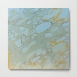 Marble in Blues and Golds, Italian  Metal Print