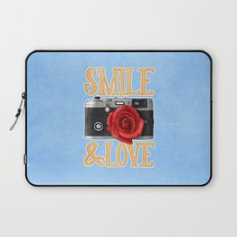 Smile and Love Laptop Sleeve
