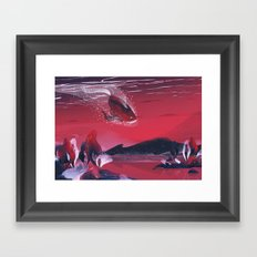 Dive Framed Art Print