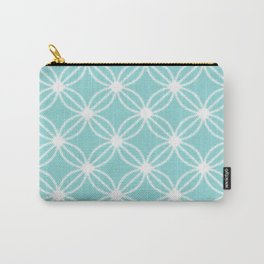 Abstract Circle Dots Mint Carry-All Pouch