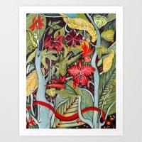 paradise Art Prints featuring Paradise  by Felicia Atanasiu