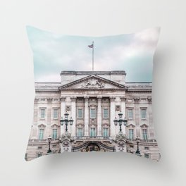 Whilst patchy drizzle dissipated, pink dust – and loud noise – bloomed. Throw Pillow