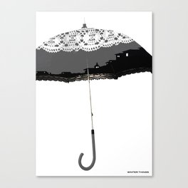 The Winter Umbrella, Winter Things Canvas Print