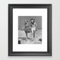 Sheeple ppl Framed Art Print