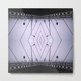 Bridge Of Diamonds - Symmetric Chaos Kaleidoscope Series 1 Metal Print