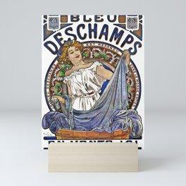 Art Nouveau Woman Washing Clothes Mini Art Print