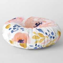 Genevieve Floral Floor Pillow