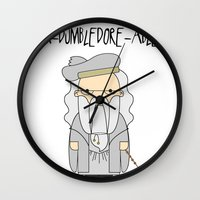 dumbledore Wall Clocks featuring A-DUMBLEDORE-ABLE.  by BeckiBoos