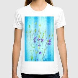 Dark Blue Delphinium Soft Oil Style T-shirt