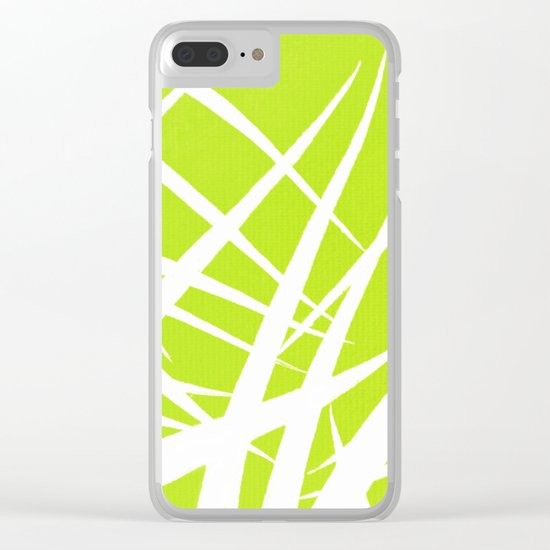 into the wind/green Clear iPhone Case