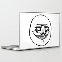 meme Laptop & iPad Skins featuring meme by tmurriam