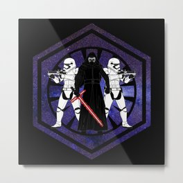 Kylo Ren and The First Order Metal Print