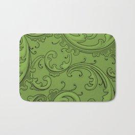 Greenery Swirls Bath Mat