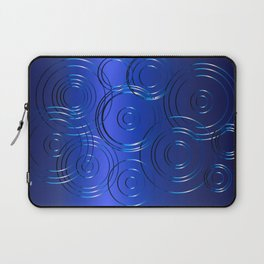 Blue Circle Background Laptop Sleeve