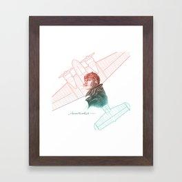 Amelia Earhart Courageous Adventurer Framed Art Print