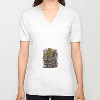 romantic V-neck T-shirts featuring - romantic summer - by Magdalla Del Fresto